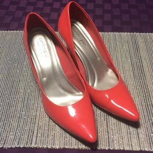Shoes - Coral Patent Pointy Toe 12 (US) Heels